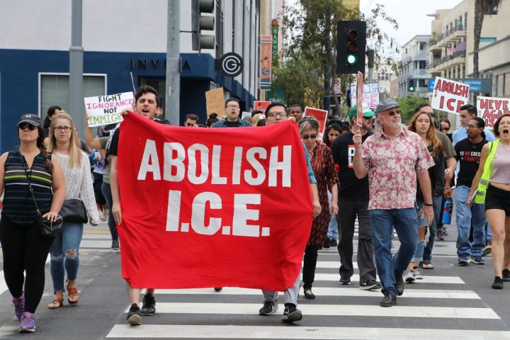 Nearly 250 Protestors March To Get Ice Out Of Long Beach